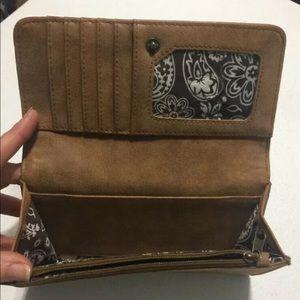 Bandana Bags - American West Bandana GUNS ROSES Wallet Leather